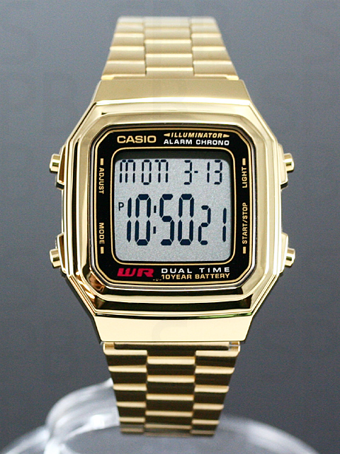 casio a178w how to change time