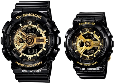 Picture of G-SHOCK , BABY-G  Love  GA-110GB-1 & BA-110-1