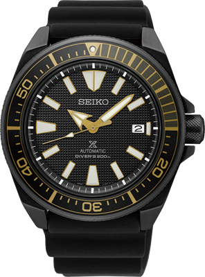 Picture of SEIKO AUTOMATIC  Samurai   SRPB55K สีดำสายยาง
